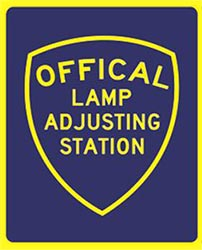 Official Lamp Adjusting Station for California